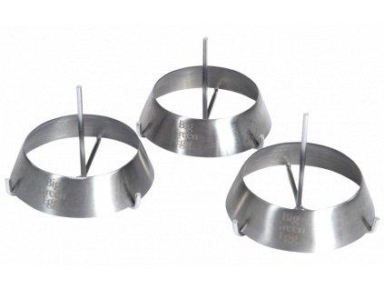 Nerezové grilovací kroužky 3 ks