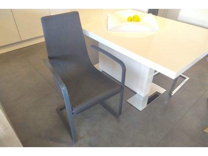 Židle Cruiser s područkami - látka Berna, podnož matná šedá