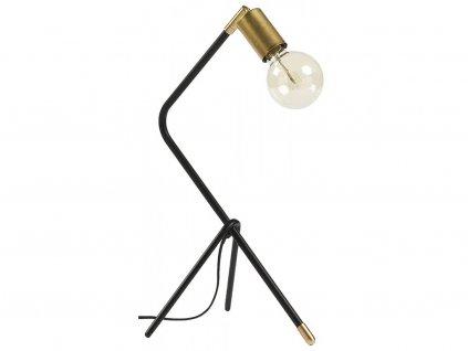 42177 cernozlata kovova stolni lampa laforma klara