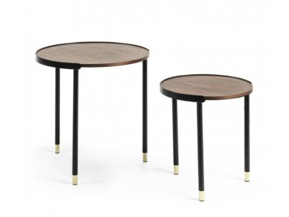 ALINER - set 2 odkládacích stolků, ořech