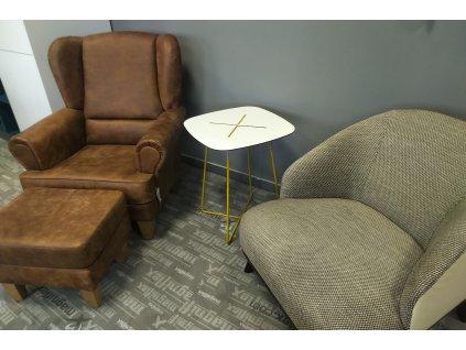 Konferenční stolek Cross, žlutý