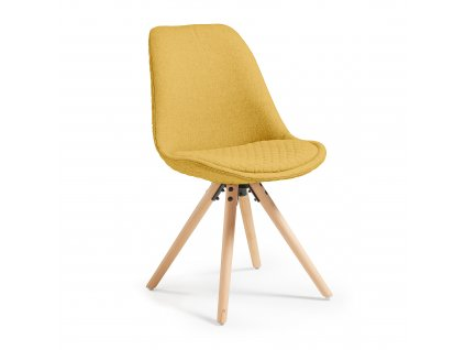 Čalouněná židle Lars - hořčicová