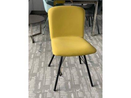 Židle Emma - žlutá