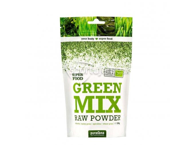 Purasana Green Mix Powder BIO RAW 200g