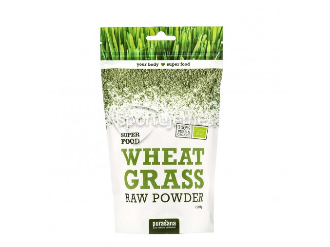 Purasana Wheat Grass Powder BIO RAW 200g