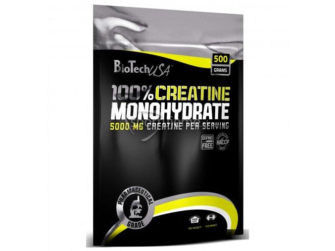 BioTech 100% Creatine Monohydrate 500g sáčok