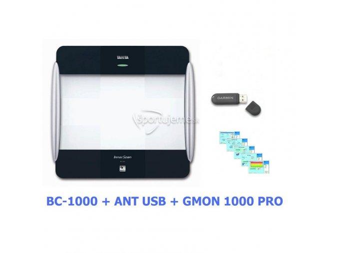 Tanita Osobná digitálna váha BC 1000 + ANT Stick + Software GMON 1000 PRO