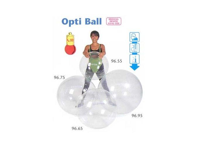 Ledraplastic Hladká Fitlopta OPTI BALL 55cm