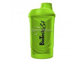 Biotech USA Šejker Wave Zelený priesvitný 600 ml