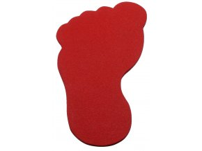 podlahove znacky noha cervena