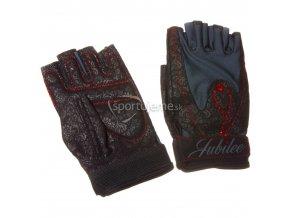 Mad Max MFG-740 Jubilee dámske rukavice pre fitness s kryštálmi Swarovski čierne