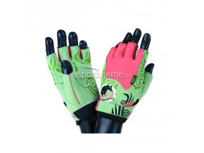 Mad Max MFG730 Rats dámske rukavice pre fitness s kryštálmi Swarovski zelené