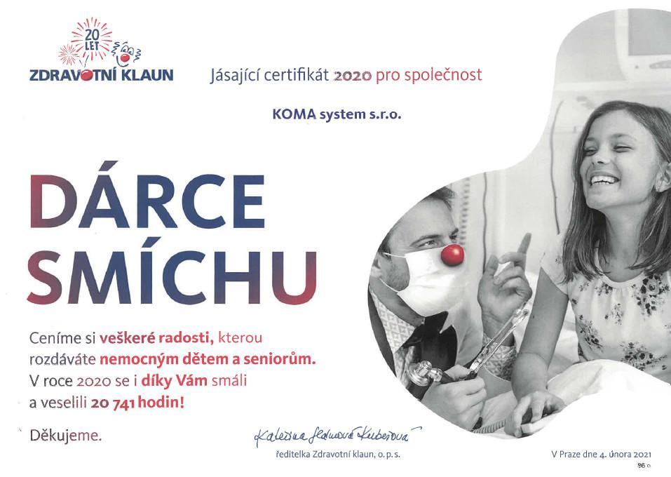 darce-smichu-certifikat-koma-system