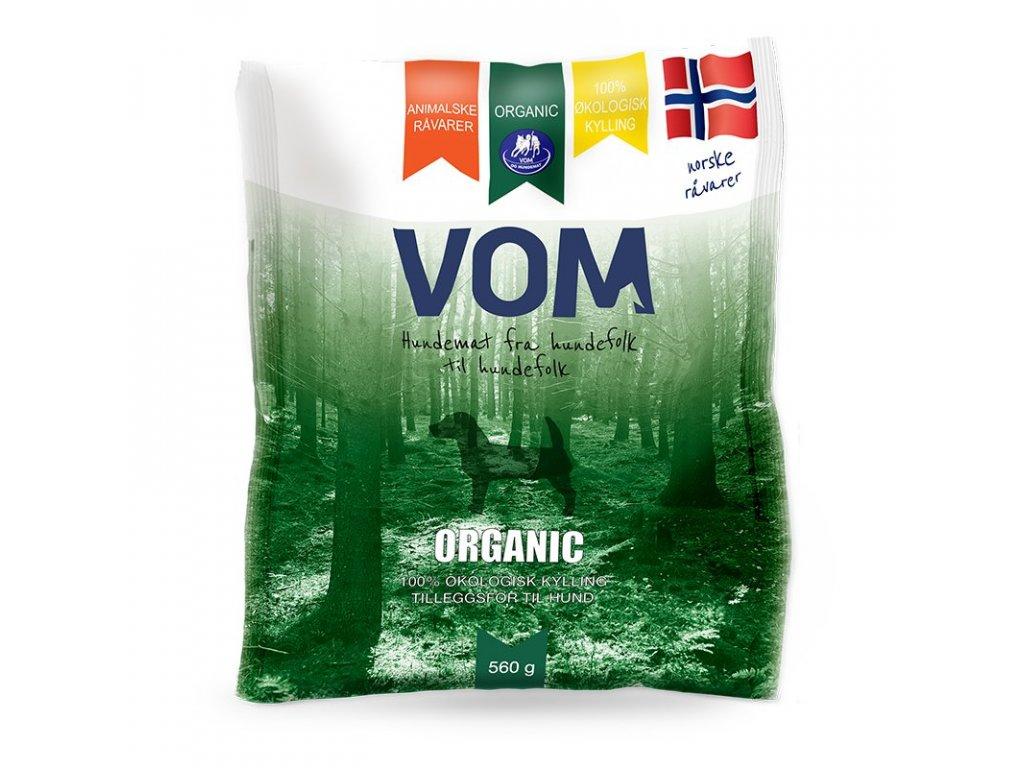 VOM Organic kureci 560g mrazene maso pro psy BARF krmivo
