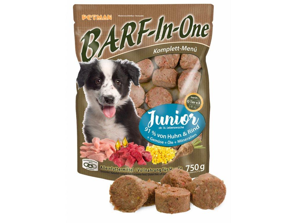 BARF in One Junior maso pro stenata kompletni krmivo