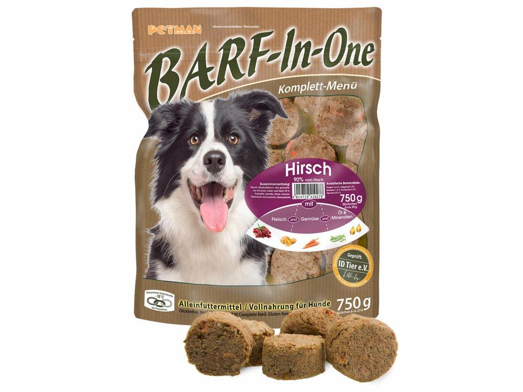 BARF in One Hirsch maso pro psy jelen kompletni krmivo