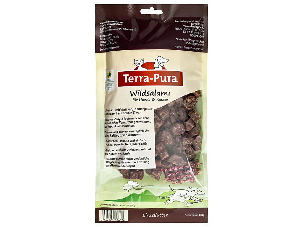 Terra Pura salámek ze zvěřeiny 250 g
