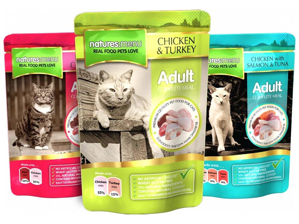 CAT48MULTI kapsičky pro kočky multipack 48x100 g