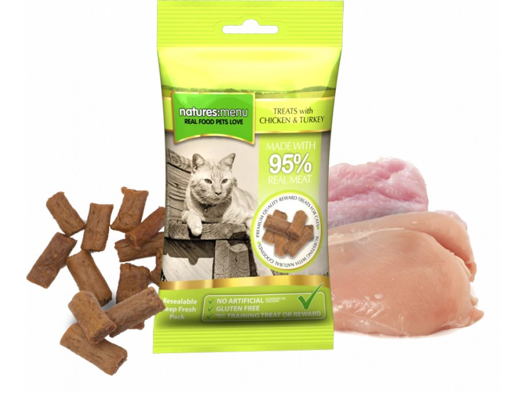 NMCTT pamlsky pro kočky kuřecí a krůtí balení