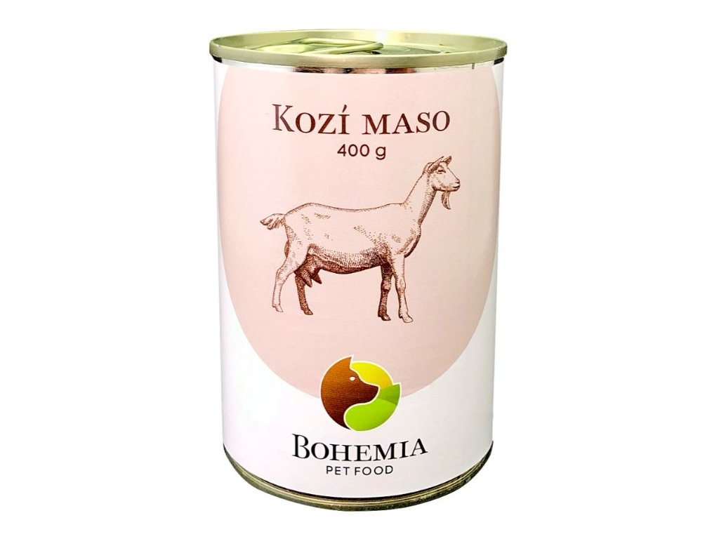 bohemia kozi maso ve vlastni stave 400 g konzerva pro psy