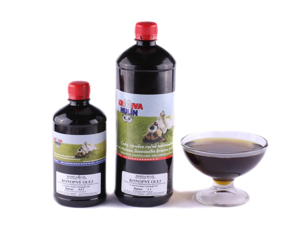 krmiva hulin konopny olej pro psy