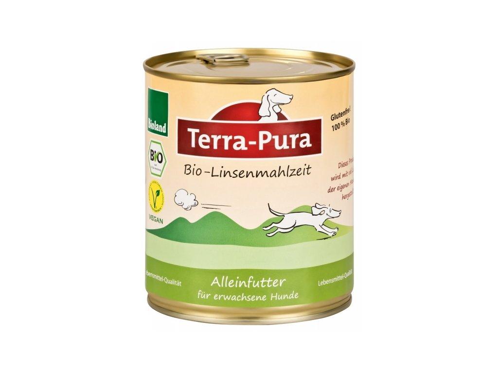 terra pura bio linsenmahlzeit cockova konzerva pro psy 750g