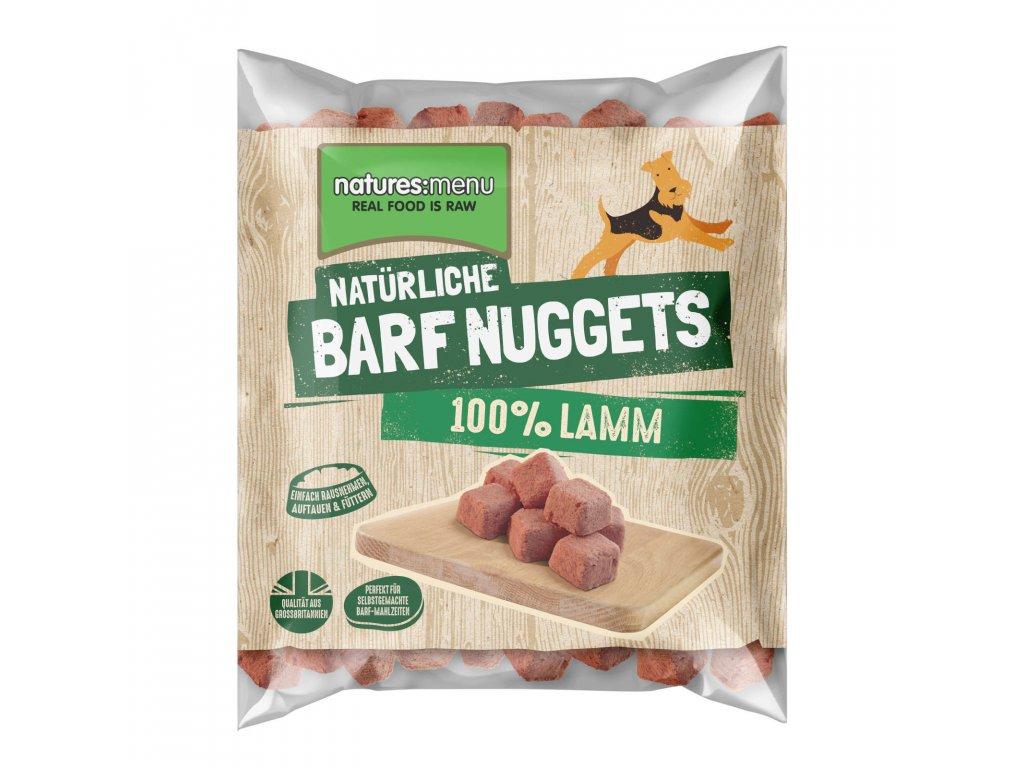 Natures Menu 100 pct raw barf mrazene maso nugety jehneci 1 kg