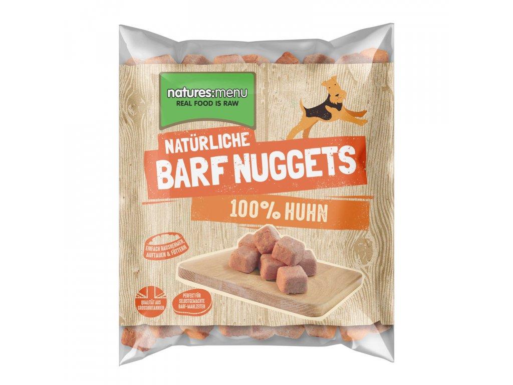 Natures Menu 100 pct raw barf mrazene maso nugety kureci 1 kg