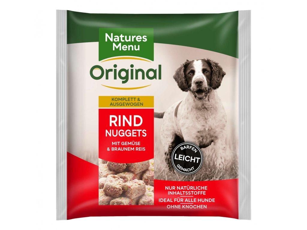 natures menu raw barf 60 pct hovezi nugety mrazene maso krmivo pro psy 1 kg