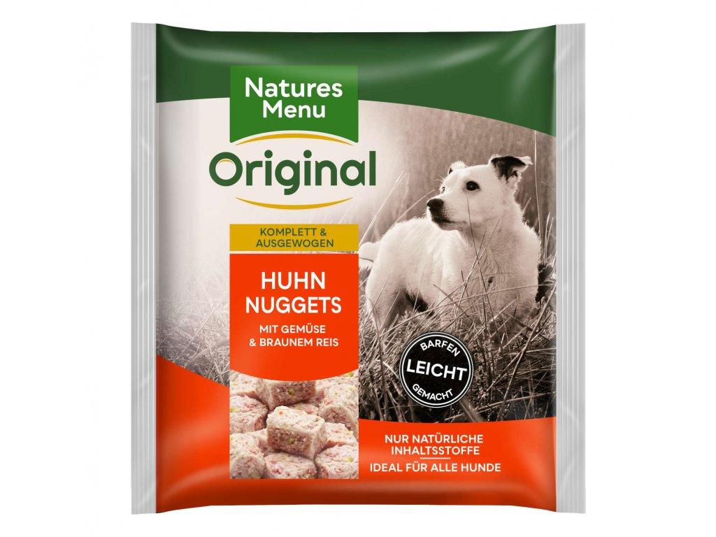 natures menu raw barf 60 pct kureci nugety mrazene maso krmivo pro psy 1 kg