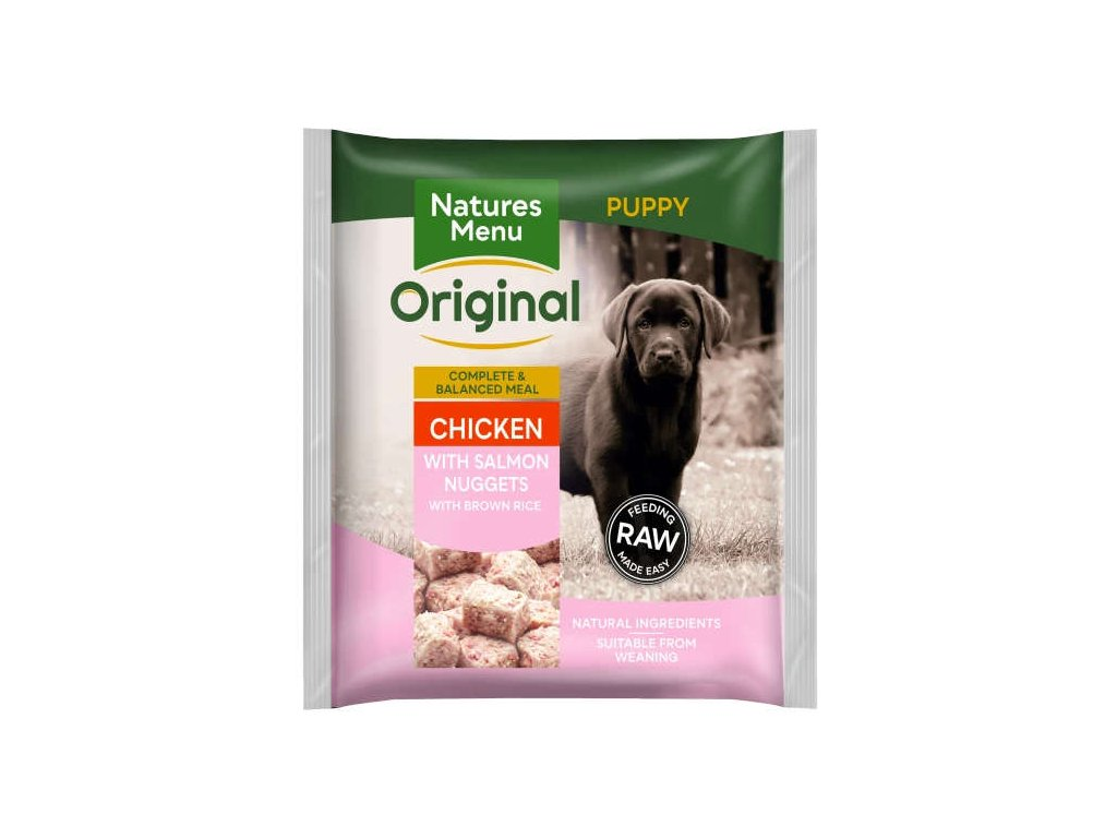 natures menu raw barf nugety pro stenata mrazene maso krmivo pro psy