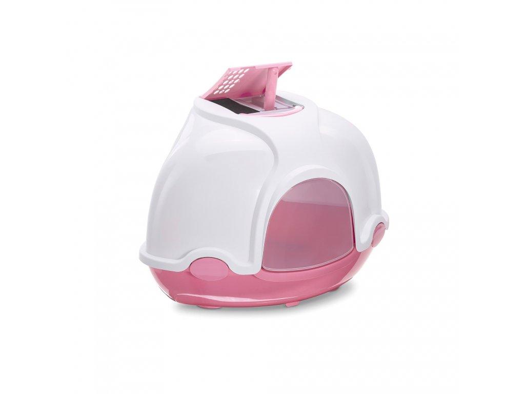 IMAC Ginger kočičí záchod rohový 52 x 52 x 44,5 cm  s lopatkou a filtrem proti zápachu