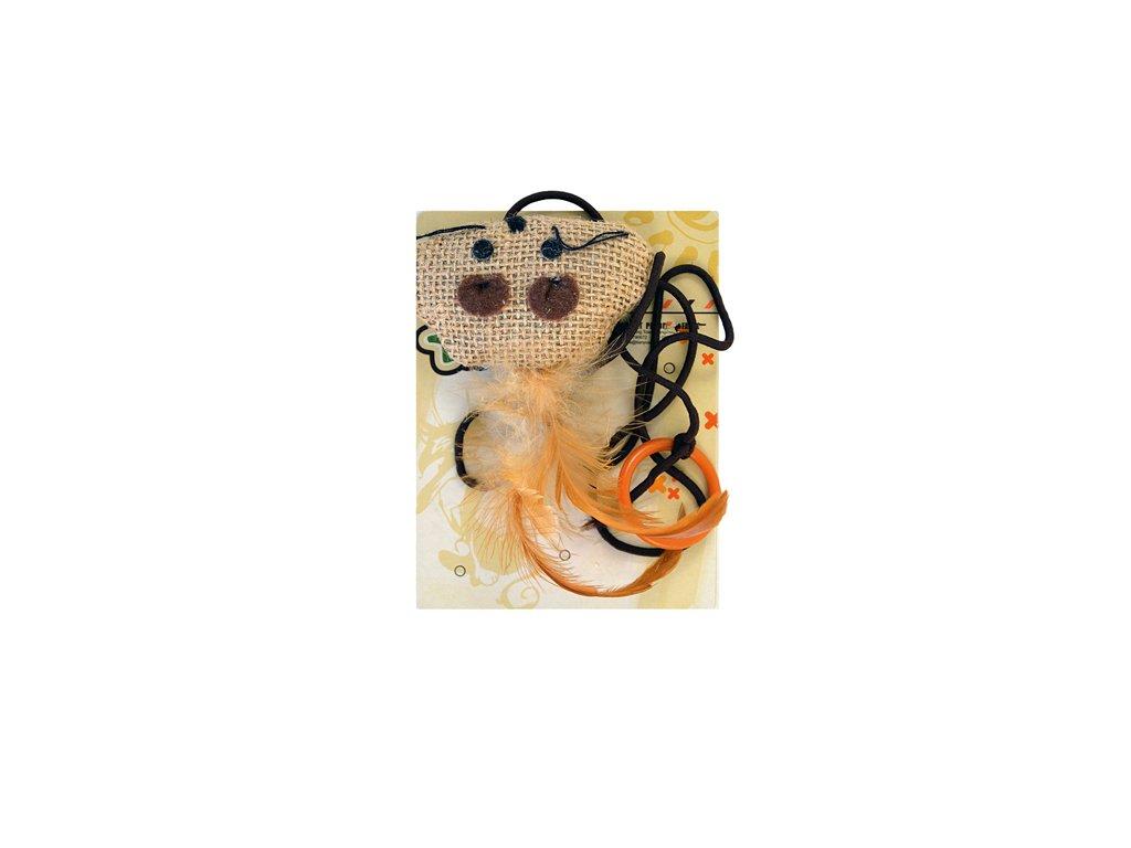 myska na provazku hracka
