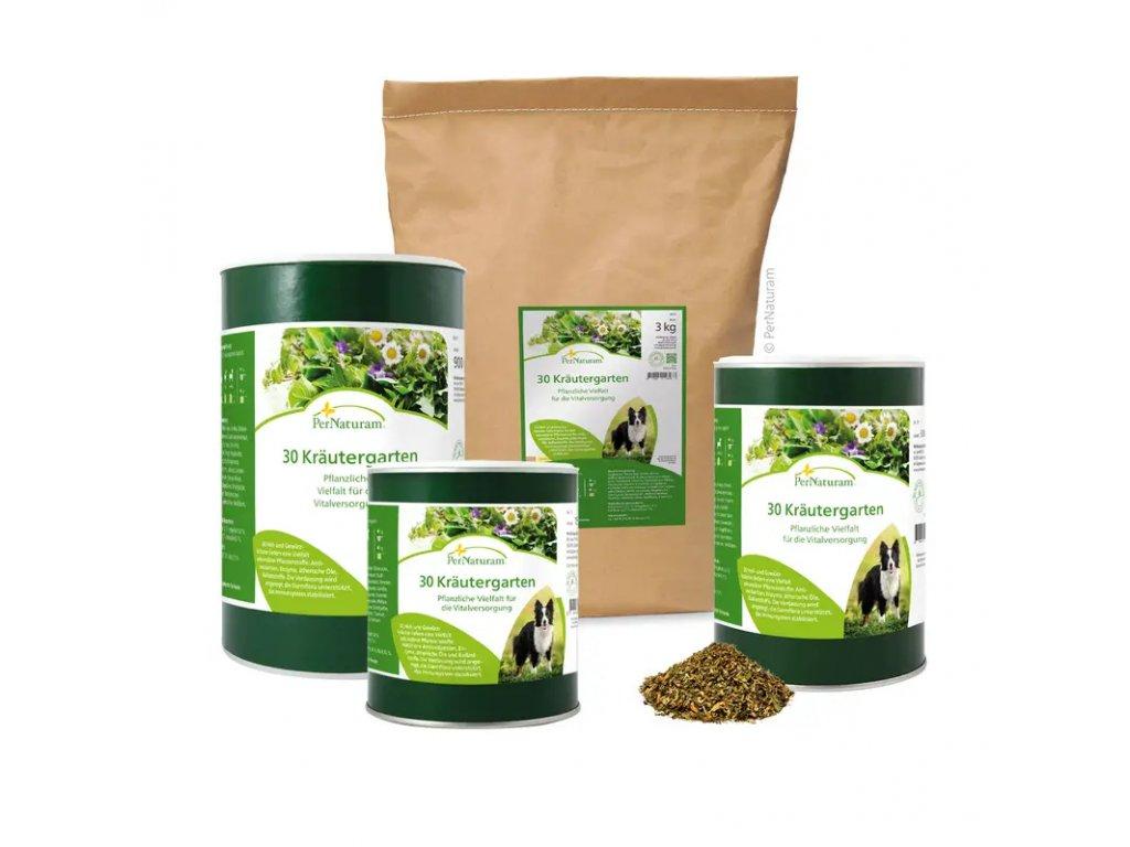 Pernaturam 30 bylin Doplněk stravy pro psy, který posiluje a stabilizuje imunitní systém.
