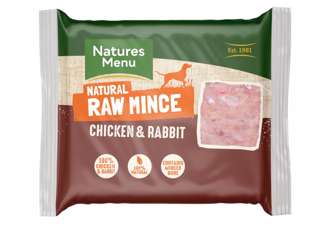 RAB Natures Menu Home Prepare BARF mleté kuřecí a králičí přední strana