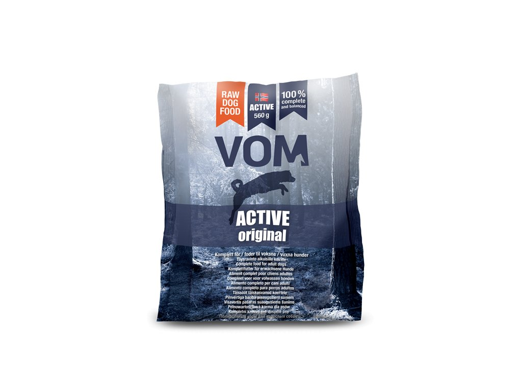 VOM Active Original (mražené BARF krmivo)