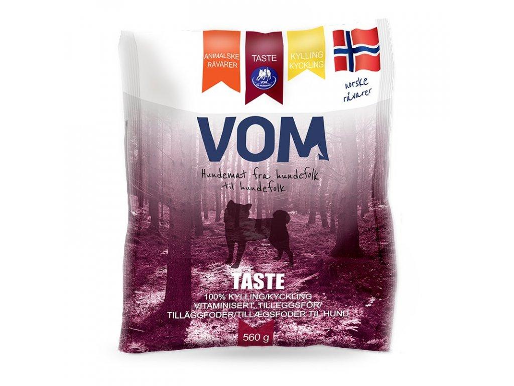 VOM Taste kureci 560g mrazene maso pro psy BARF krmivo