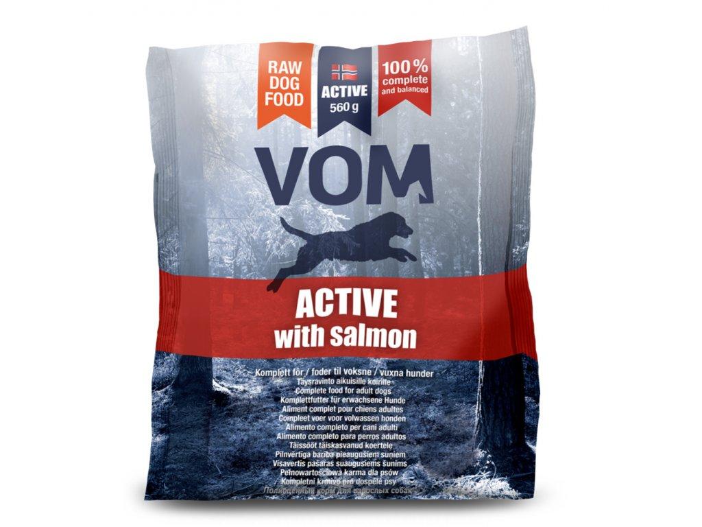VOM Active s lososem BARF krmivo 560 g