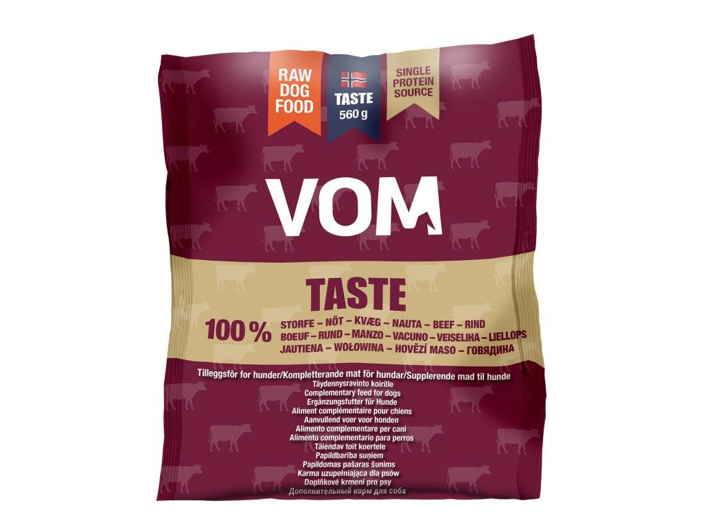 VOM Taste hovezi 560g mrazene maso pro psy BARF krmivo