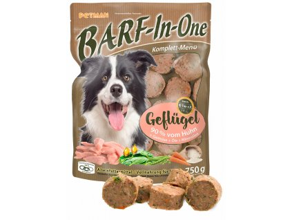 BARF in One Geflugel maso pro psy drubezi kompletni krmivo