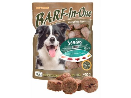 BARF in One Senior maso pro starsi psy kompletni krmivo