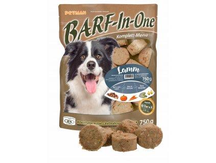 BARF in One Lamm maso pro psy jehneci kompletni krmivo