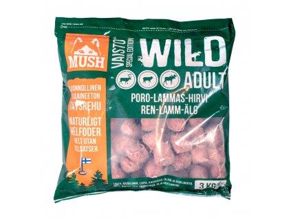 MUSH VAISTO Wild - sobí, losí a jehněčí (mražené BARF krmivo)