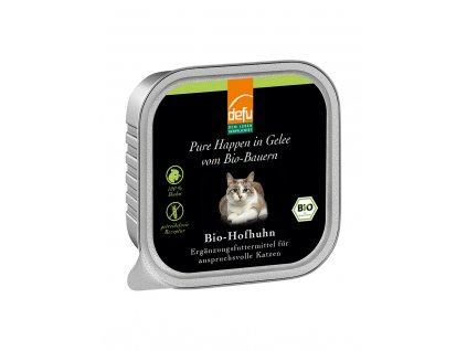 DEFU 578117 happen in gelle bio hofhuhn 100 g kousky v želé pro kočky