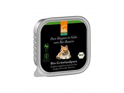 DEFU 578118 happen in gelee bio grunlandpute kousky v želé pro kočky