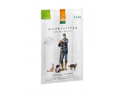 DEFU 572751 kaustange bio truthahn 18 g žvýkací tyčinky pro kočky