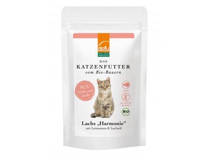 DEFU 578415 bio lachs harmonie kompletní krmivo pro kočky