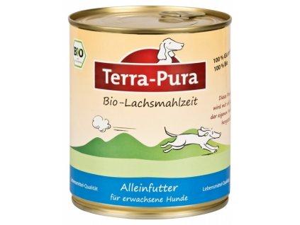 terra pura bio lachsmahlzeit lososi konzerva pro psy 800g