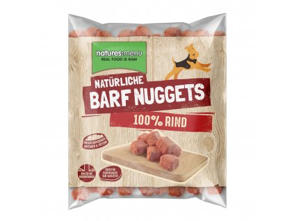 Natures Menu 100 pct raw barf mrazene maso nugety hovezi 1 kg