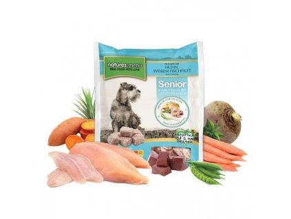 natures menu raw barf 60 pct nugety senior pro starsi psy mrazene maso krmivo pro psy 1 kg